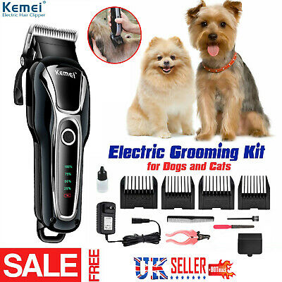 USB Rechargeable Cat Dog Hair Trimmer Electrical Pet Clipper Cutter Grooming