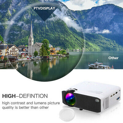 E75F USB Screen Mirroring LCD Home Projector Portable LED Projector U-Disk