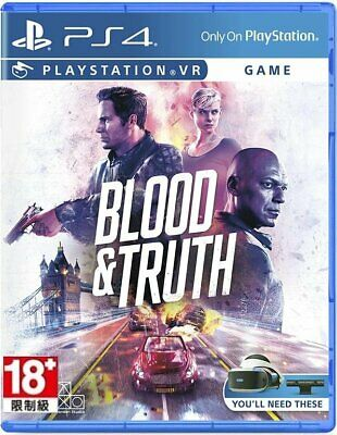 Blood & Truth (Support VR) For Sony Playstation 4 PS4 (English/Chi Sub)
