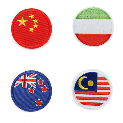 National Country Embroidery Flag Sew/Iron On Patch Transfer Applique for T-shirt