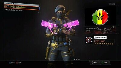Unlimited Ripper/Modded Black Ops 3 Level 1000 Master Prestige Account PS4!