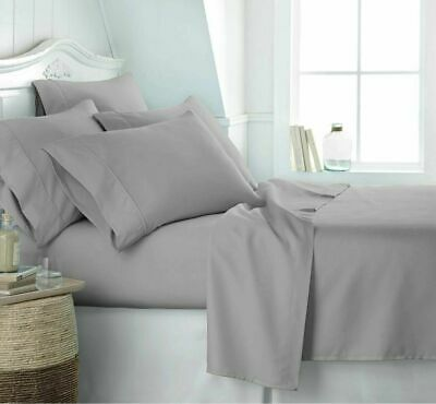 Luxury 100% Cotton Extra Deep Fitted Sheet Flat Sheet All Sizes Egyptian Quality