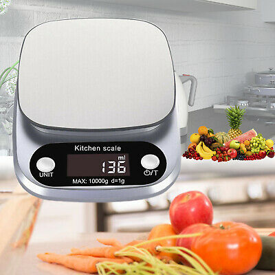 3kg/10kg Stainless Steel Digital Kitchen Scale White for Cooking Food Weighing
