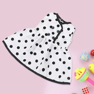 Fashion! Flowers Spotted Dress For 18 inch Doll Clothes Evening Suit Breathable