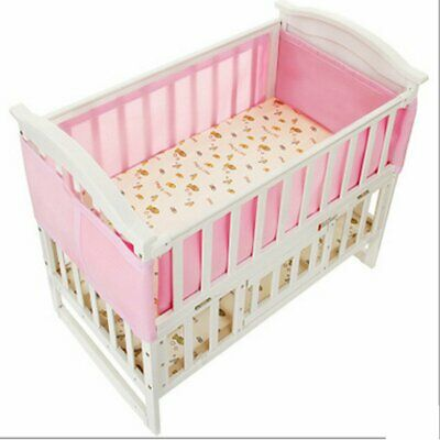 130x70CM Breathing Space Baby Infant Air Pad Polyester Cot Bumper Mesh Pink