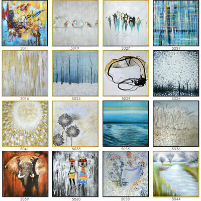 New Oil Painting Modern Abstract Hand Painted Canvas Wall Art Framed Home Office
