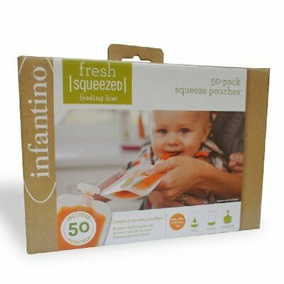 Infantino Fresh Squeezed Feeding Line 50-Pack Squeeze Pouches