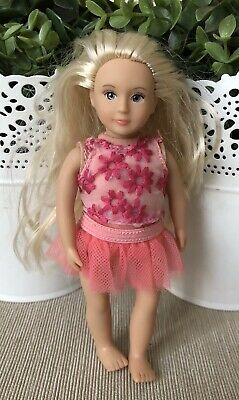 "Lori Doll mini from Our Generation ""FIORA"" By Battat No Shoes 6""T Loose Girl Toy"