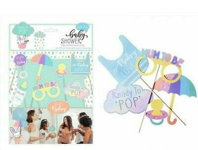 8 Baby Shower Photo Booth Props Girl Boy Birth Party Decorations Accessories Gam