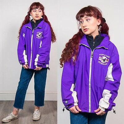 Vintage Purple & White Lightweight Shell Tracksuit Jacket 90S Casual 16 18