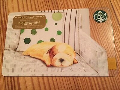 """Canada Series Starbucks """"RESTING PUPPY 2016"""" Gift Card - New No Value"""