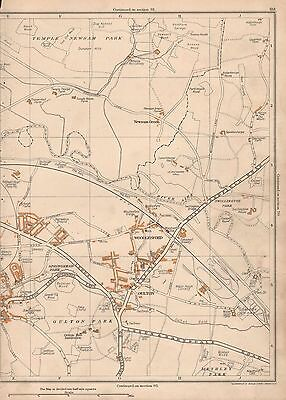 Yorkshire map 204-1-1938 Scarcroft Hill Thorner