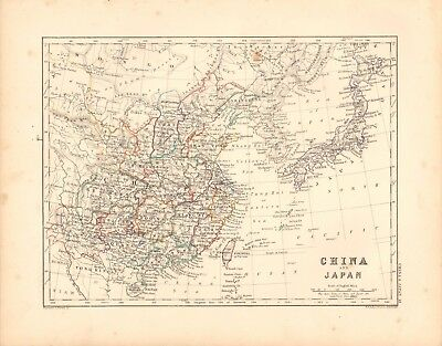 1868  Antique Map -  China And Japan