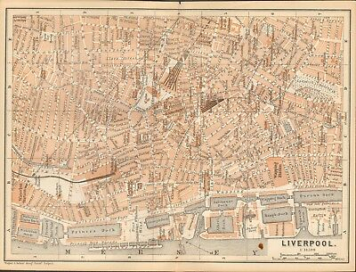 1890 - Antique Map - Plan - Liverpool