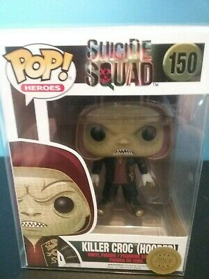 Funko Pop! Killer Croc hooded #150 with Free Pop Protector. Suicide Squad