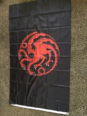 House Targaryen Banner Game of Thrones Flag 3X5 Brand New LOW INVENTORY