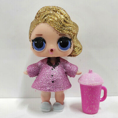 lol doll Big Sister Serie Glitter Gold Hair Purple Dress Kids Birthday Gift Cute
