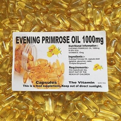 The Vitamin Evening Primrose Oil 1000mg 120 Capsules - Bagged