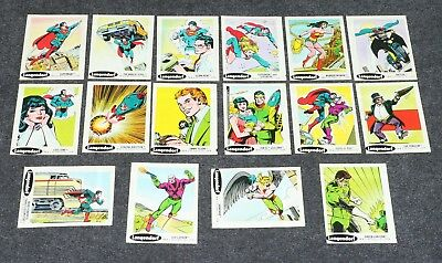 Super Heroes DC Stickers Sunbeam Taystee Langendorf Bread 1978 16/30 F