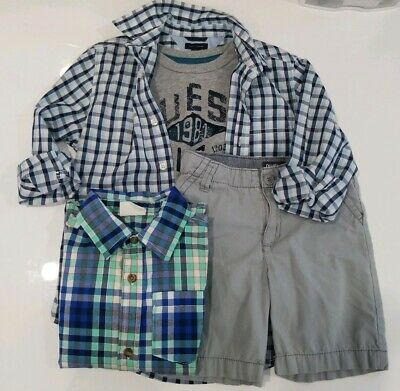 Boys OshKosh B'Gosh Tommy Hilfiger Guess Summer Clothing Outfit Lot Size 5t