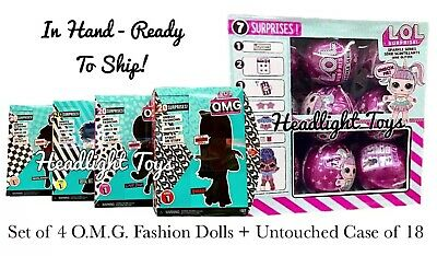 LOL Surprise OMG SWAG Diva Bee Neonlicious Fashion Doll + Sparkle Series Case 18