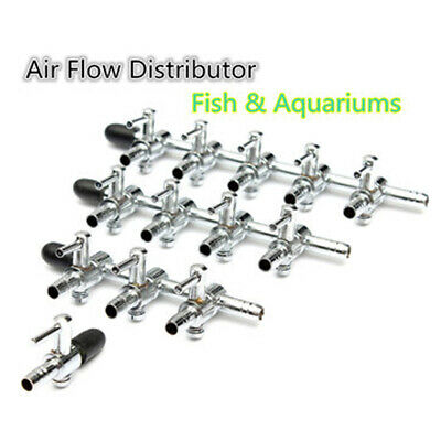 Aquarium Fish Tank Air Flow Distributor Splitter Lever Tap Pump Control