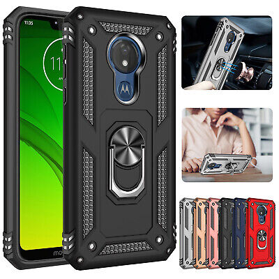 For Motorola Moto G7 Case G7 Plus Magnetic Shockproof Hybrid Stand Rugged Cover