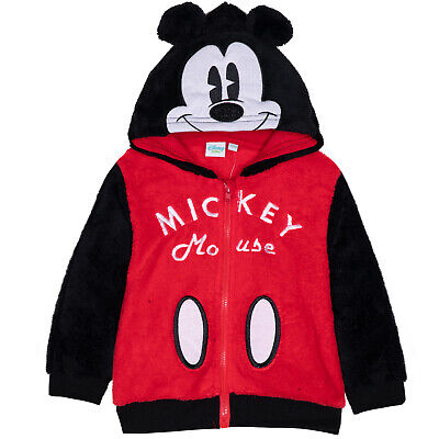 Disney Mickey Mouse Baby Boys Warm Jumper Hoodie Coral Fleece Jacket 3-24 Months