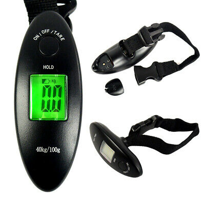 40kg/100g Portable Digital LCD Travel Electronic Weigh Hanging Luggage Scale
