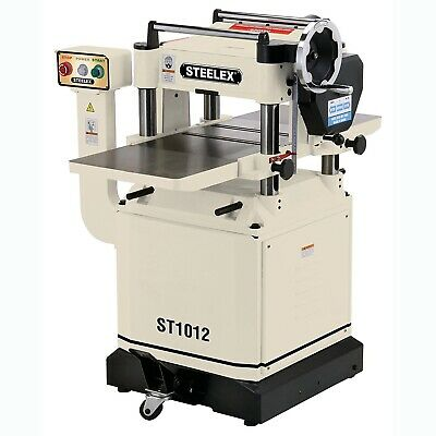 Steelex ST1012 15-Inch Planer w/Helical Cutterhead, Mobile Base & Iron Wings