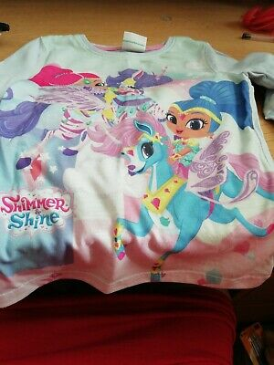 Girls Shimmer Shine, Pyjamas, Aged 3 To 4, Used In Exellent Condition