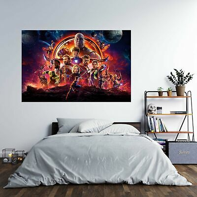 Marvel Avengers Endgame Poster Self Adhesive Wall Sticker Art Decal Mural