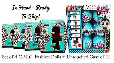 LOL Surprise OMG SWAG Diva Bee Neonlicious Fashion Dolls Boys Series Case Box 12