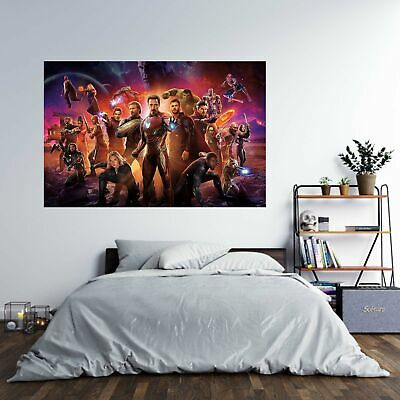 Marvel Avengers Theme Poster Self Adhesive Wall Sticker Art Decal Mural