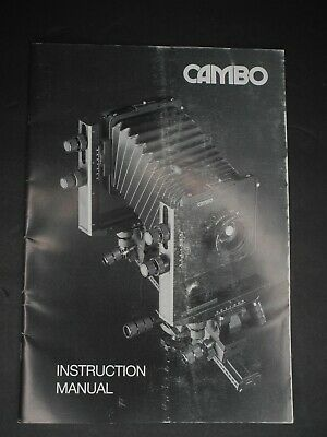Cambo Genuine Camera Instruction Manual