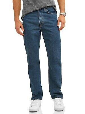 George Men's Relaxed Fit Medium Wash Tapered Leg Blue Jeans Size 36X30