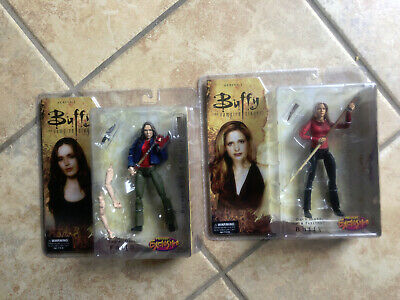BUFFY THE VAMPIRE SLAYER & FAITH Previews Exclusive P/X Action FIgure Set BTVS