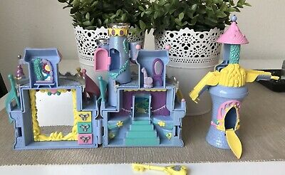 Vintage Polly Pocket Play Set 1995 Trendmasters Toy Figure Cosmetic Castle & Key