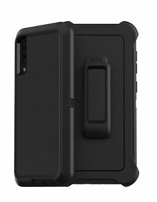 For Samsung Galaxy A50 Case Cover(Belt Clip Fits Otterbox Defender Series)Black