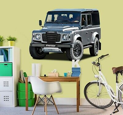 3D Land Rover Defender G79 Car Wallpaper Mural Poster Transport Wall Stickers We