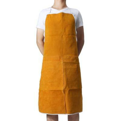 Welding Worker's Cow Leather Welding Apron Wear Heat Welder Apron Protection