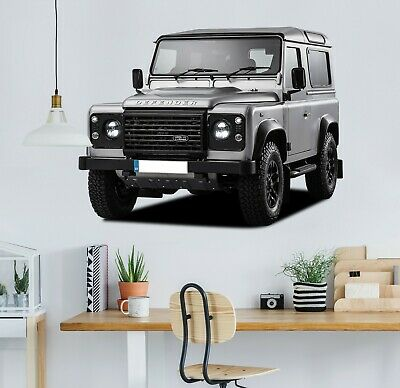 3D Land Rover Defender G80 Car Wallpaper Mural Poster Transport Wall Stickers We