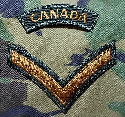 Canadian Forces Army Garrison Dress Private Pte Rank Badge Buy 1 Get 1 Free