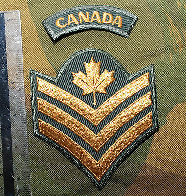 Canadian Forces Army Garrison Dress Sergeant Sgt Rank Badge Buy 1 Get 1 Free