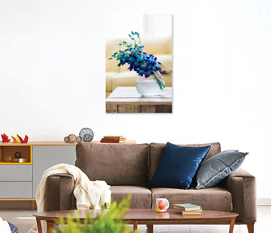 Amazing Blue Flowers Vase Bed HOME WALL DECOR Framed Canvas choose your size