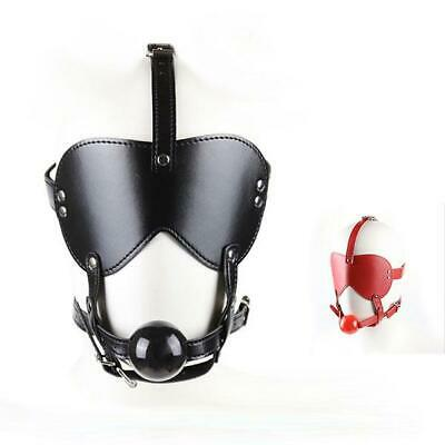2 Color Kunstleder Maske Faux Leather Hood Blindfold Eye patch Mask Bondage