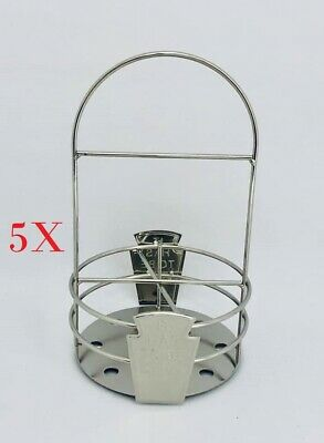 Set of 5  Stand X  'It Has To Be Heinz' original condiment sauce holders.