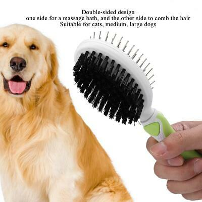 Double Sided Shedding Brush Comb Long Hair Pet Fur Grooming Dog Cat Puppy