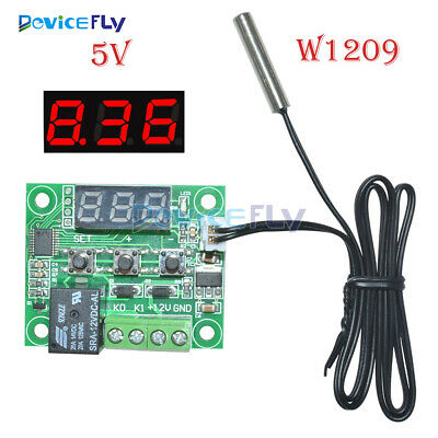 DC 5V W1209 Red LED Thermostat Temperature Switch Thermometer Controller Cable