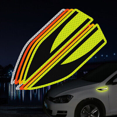2Pcs/Set Car Reflective Safety Warning Strip Tape Car Bumper Reflective Strips